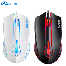 Gaming game mouse wired desktop computer notebook office household USB light mouse 1.5 meters with full copper wire drawing card