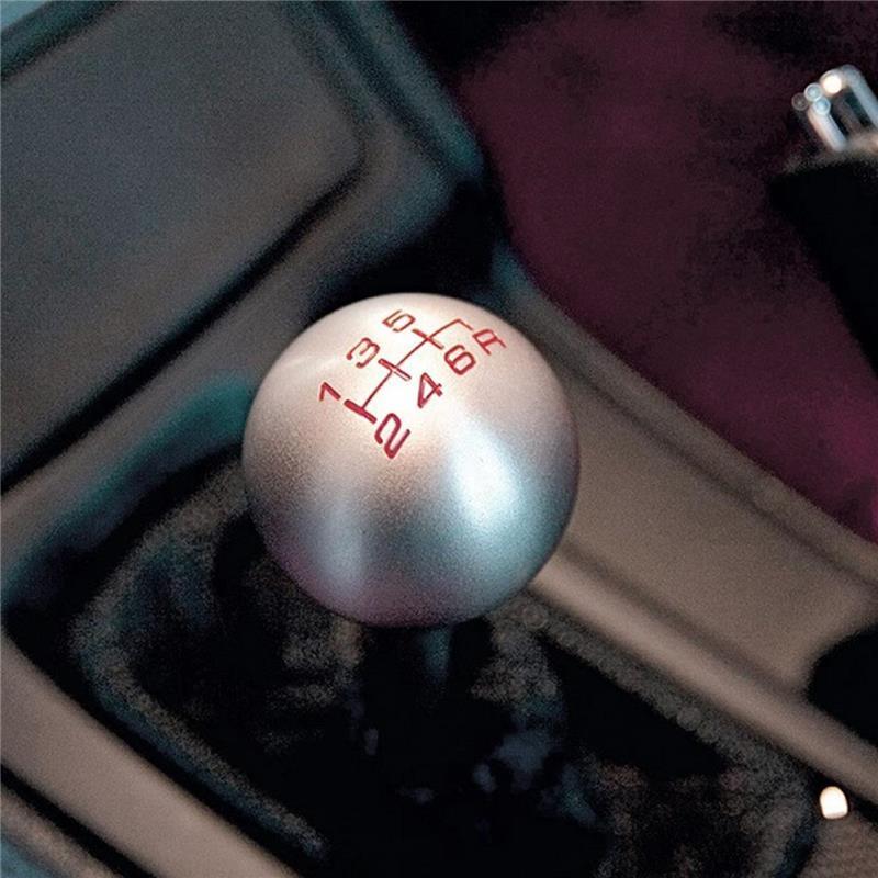 Round Aluminum Silver Honda Gear Shift Knob 1Pcs Manual Transmission 6 Speed