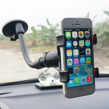 New arrival Cell phone holder Stand Double hose clamp sucker car navigation bracket Universal support trestle Mount Holded Car