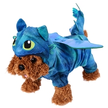 Creative Fly Dragon Pet Dog Halloween Costume Cat Dog Warm Coral Velvet Costumes Dog Coats Warm Jackets Unicorn Pet Clothes(China)