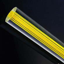 OD20x1000mm Acrylic Rod Clear Within Line (Extruded) Plastic Bar Home LED Decor Acrylic Aquarium Perspex Furniture