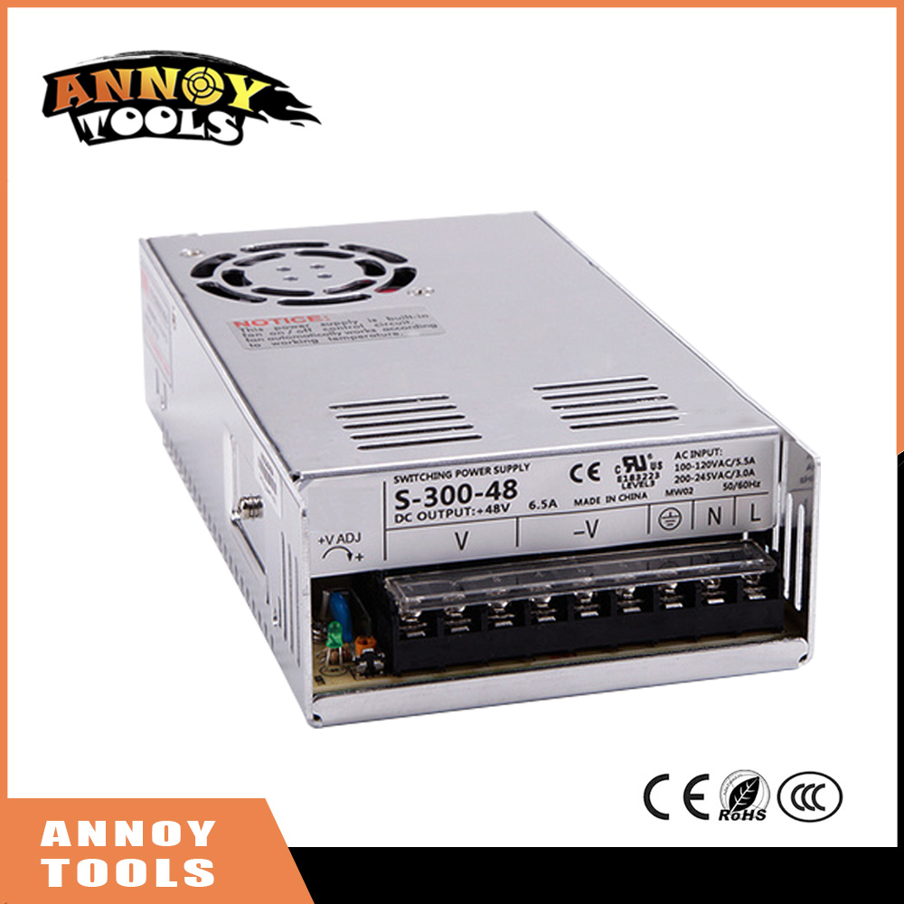 Free Shipping 48V 300W 6.25A Adjustable Smps Power Supply 48V Transformer 220v 110v AC to DC 48V For CNC engraving machine<br>