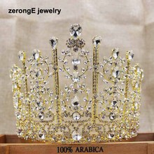 zerongE jewelry5.1 inch tall pageant drop wedding tiara silver lady bridal tiara hair jewelry band miss world event tiara crown