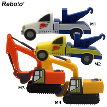 usb flash disk 4gb 8gb 16gb 32gb Excavators truck cartoon usb flash drive 64gb usb memory pen driver gifts gadget free shipping(China)