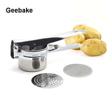 Geebake Brand Kitchen Practical Creative gadgets Stainless Steel Potatoes Mashers or Fruits Juicer(China)