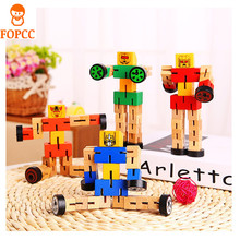 Classic Toy Models Children's Educational Toys Wooden Three-Dimensional Robot Children's Educational Toys Model Gift Children(China)
