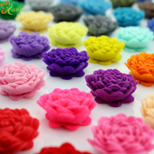 "51colors 102pcs/lot Girls 1"" Tiny Felt Flowers Rose WITHOUT Clips Kids Hair Accessories Kids Accessories YOU PICK COLORS"