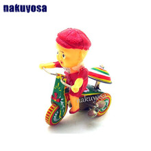 Ringing Child Cycling Nostalgic theme Personalized Decoration Creative Gifts Metal toys(China)