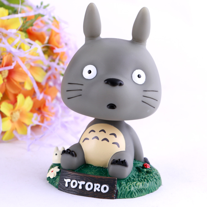 Newest Hight Quality Kawaii Cartoon Movie Totoro Car shaking His Head PVC Action Figures  Christmas gift doll<br><br>Aliexpress