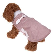 Pet Dog Coat Motorcycle Style Winter Warm Clothes for Dogs Fleece Casual Dog Jacket Vest Coat Puppy Clothes S M L XL(China)