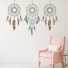 1pcs Dream Catchers Vinyl Wall Stickers For Kids Rooms Home Decor Sofa Living Room Decals 3 Dreamcatchers Wallpaper 5070cm