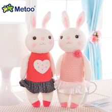 Metoo 37cm Rabbit Plush Doll Kawaii Stuffed Toys Baby Toys for Girls Boys Child Birthday Christmas Gift Soft Cute Bunny Dolls(China)
