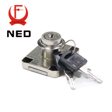 Brand NED Hardware 139-22 Iron Long Bolt Drawer Lock Furniture Desk Cabinet Locker Twice Turning Lock With 19mm Core Two Keys(China)
