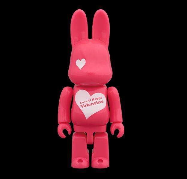 Vinyl Doll 100% Bearbrick Be@rbric Pink Rabbit 7CM PVC Vinyl Art Figure Collection Fashion Medicom toy<br>