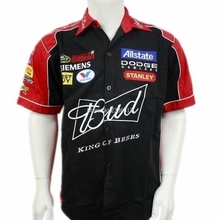 for Budweiser f1 fashion driver team loose shirt Automobile advertising MOTO GP motorcycle road race racer short sleeve shirts