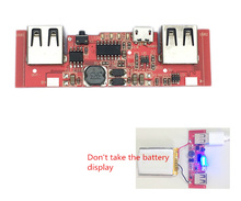 5V 1A 2.1A Charger Board Charging Circuit Board Step Up Boost Power Supply Module Dual USB Output 18650 Battery