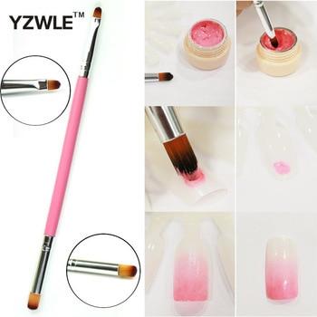 YZWLE 1 Pcs New Dual-use Nail Art Brush / Manicure Gel Polish Brush / Gradual Color Blooming Nail Drawing Pen 01