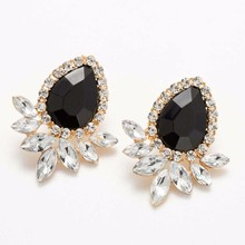 TOMTOSH New 2016 Hot Selling Women 's Jewelry High Quality 9 Color Fashion Retro Crystal Earrings Women' s Earrings