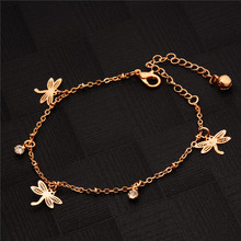 SHUANGR Top Quality Bohemia Style Gold-Color Anklets Jewelry Austrian Crystals Wholesale TH1517/TH1518