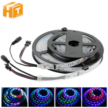 6803 IC SMD 5050 RGB Dream Magic Color LED Strip DC12V 30LED/M IP67 waterproof /Non Waterproof Flexible Strip Tape 5M(China)
