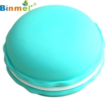 New Sky Blue 1pc Earphone SD Card Macarons Bag Big Storage Box Case Carrying Pouch Nov9(China)