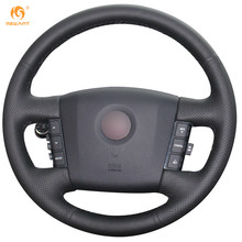 Mewant for 2008-2015 Kia Borrego Micro Fiber Artificial Leather Car Steering Wheel Cover Accessories(China)