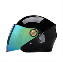 black helmet Open Face Motorcycle Helmet Vintage Motorbike Helmet Style double visor pink red white helmet