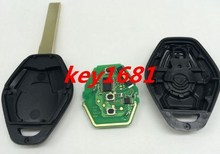 Best Quality Best Prize car key 3 Button Remote Key Control 315MHZ With ID44 Chip For Car BMw EWS with uncut blade(China)