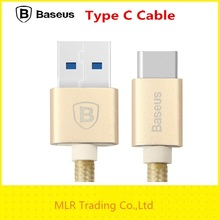 Brand Baseus 1M USB 3.1 Type-C Charge Mobile Phone Cable for Macbook Pro LETV for Nokia N1 Date Sync Transfer Cable