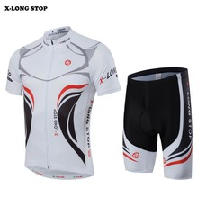 SAIL SUN Team Mens Ropa Ciclismo Summer White Cycling Jersey Set Bike (Bib) Shorts Comfortable Suit Bicycle Wear Clothing