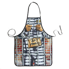 Novelty Cooking Kitchen Apron Sexy Business Man Printed Apron Cooking Grilling Funny BBQ Party Work Aprons