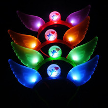 2017 Luminous Wing Head Buckle LED Lighting Headband Concert Cheering Props  Party Decoration Supplies