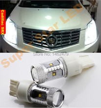 Pair LED  Marker Bulb Clearance Lamp Daytime Running Lights DRLT20 7443  W21/5W For Cadillac  SRX