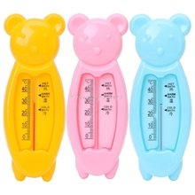 Floating Lovely Bear Baby Water Thermometer Float Baby Plastic Bath Toy Thermometer Tub Water Sensor Thermometer -B116(China)