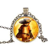 Puss in Boots Animation Cartoon Necklace Charm Fairy Tale Cat Pendant Necklace Movie Puss in Boots Character Jewelry(China)