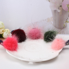 2017 1pc Fashion Girls Marten Hair ball Shapes Hair Clip Clamp Solid color Hairpin kids Hair Accessories best gift for daughter