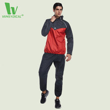 VANSYDICAL Warm Sport Suit Men Sportswear Windproof Gym Track Suits 2017 Newest Tracksuit Running Sets jogging homme survetement(China)