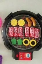 Barbecue Grill kitchen cooking toy pretend play game for children(China)