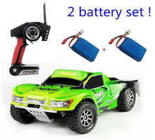 2pcs battery set ! Wltoys A969 RC Car 1:18 2.4G Remote Control Car 4WD off road rc drift car(China)