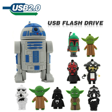 pen drive 64GB 32GB 4GB 8GB 16GB usb flash drive jump drive star wars Master Yoda darth vader robot USB 2.0 pendrive u disk(China)