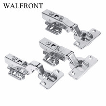 1 Set Hinge bisagra Furniture Fittings Universal Cabinet Hinges Cupboard Closet Wardrobe Jewelry Box Hinges With 6 Screws(China)