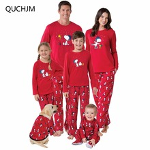 Family Matching Outfits Christmas Pajamas Family Set father Mom daughter son Christmas Pajamas Sleepwear Clothing sets