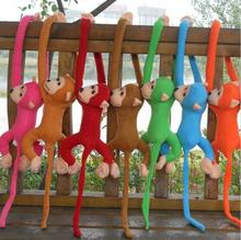 1pcs 60cm long arm monkey from arm to tail plush toys colorful monkey curtains monkey stuffed animal doll(China)