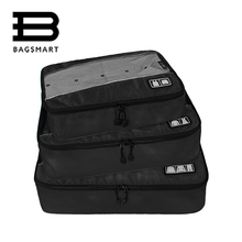 BAGSMART 3 Pcs Unisex Clothing Packing Cubes Travel Bags For Shirts Pants Garment Bags Travel Duffle Bag Luggage Organizers(China)