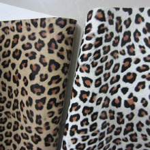 30 x 134cm mirror leopard leather fabric leatherette fabric piece leather for diy fabric BH071(China)