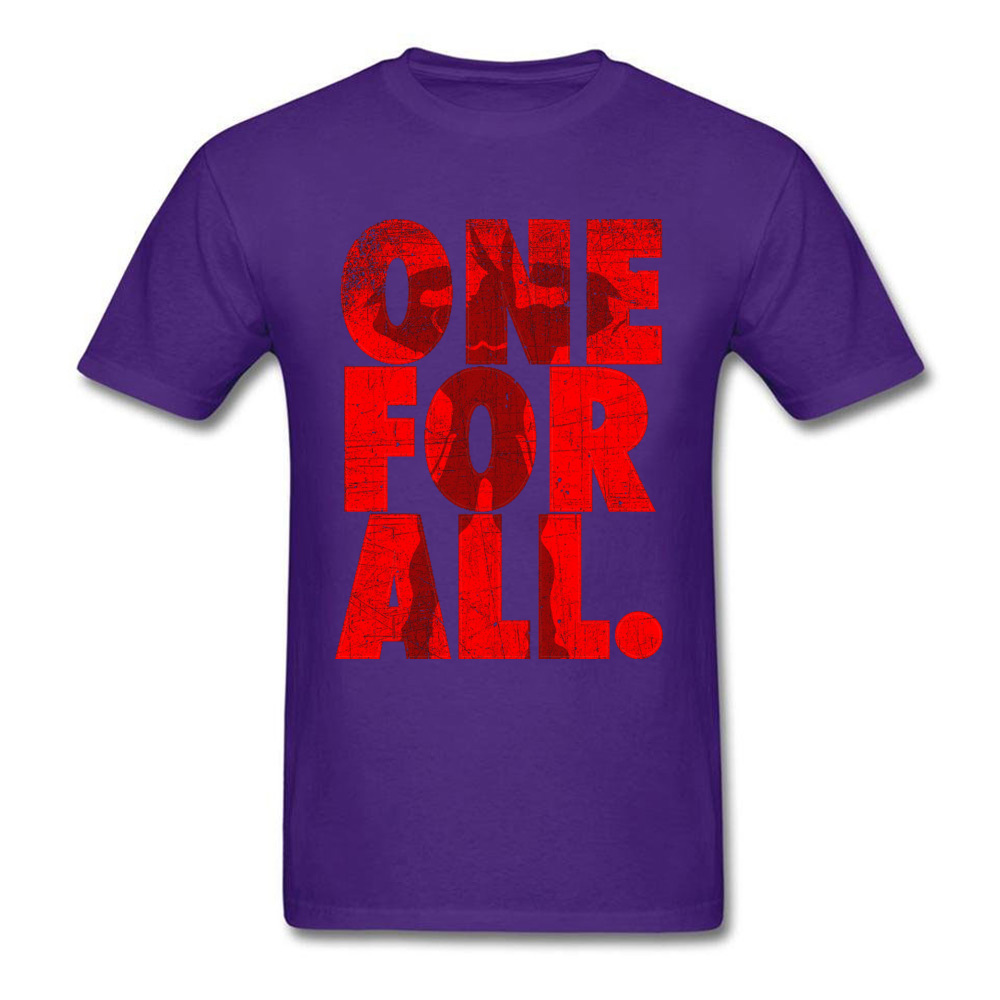 Mightier-One-For-All-My-Hero-Academia T-Shirt for Men 3D Printed Labor Day Tops Shirt Newest Tops Shirts Crewneck 100% Cotton Mightier-One-For-All-My-Hero-Academia purple