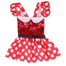 Fashion&Cute Baby Girls Minnie Mouse Dress Kids Polka Dot Skirt Clothes Party Dress 0-3Years