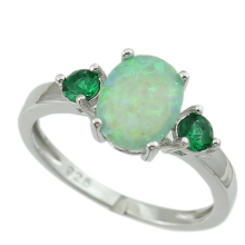 HAIMIS Green Fire Opal Women Claw Inay Fashion Jewelry Opal Ring Size 6 7 8 9 OR841