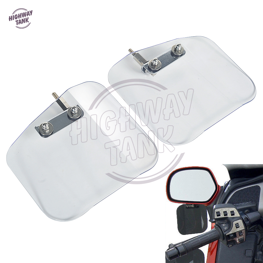 Clear Motorcycle Mirror Mount Wind Deflectors Shield Case for HONDA Goldwing GL1800 F6B 2001-2016<br>