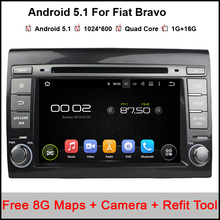 Quad Core 1024*600 Android 5.1.1 Car DVD Player for Fiat Bravo 2007-2014 with Radio RDS GPS BLuetooth WiFi 3G support DTV OBDII